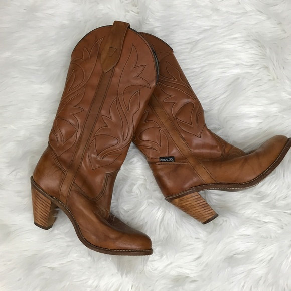 7be1503ade3 Miss Capezio Vintage Western Brown Boots 6.5